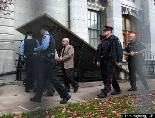... arrive at the Frontenac Court courthouse in Kingston Ontario on Friday, ...