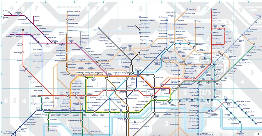 London Underground 2016 Tube Map Shows New Zones For Stratford: London Metro Map Pdf At Infoasik.co
