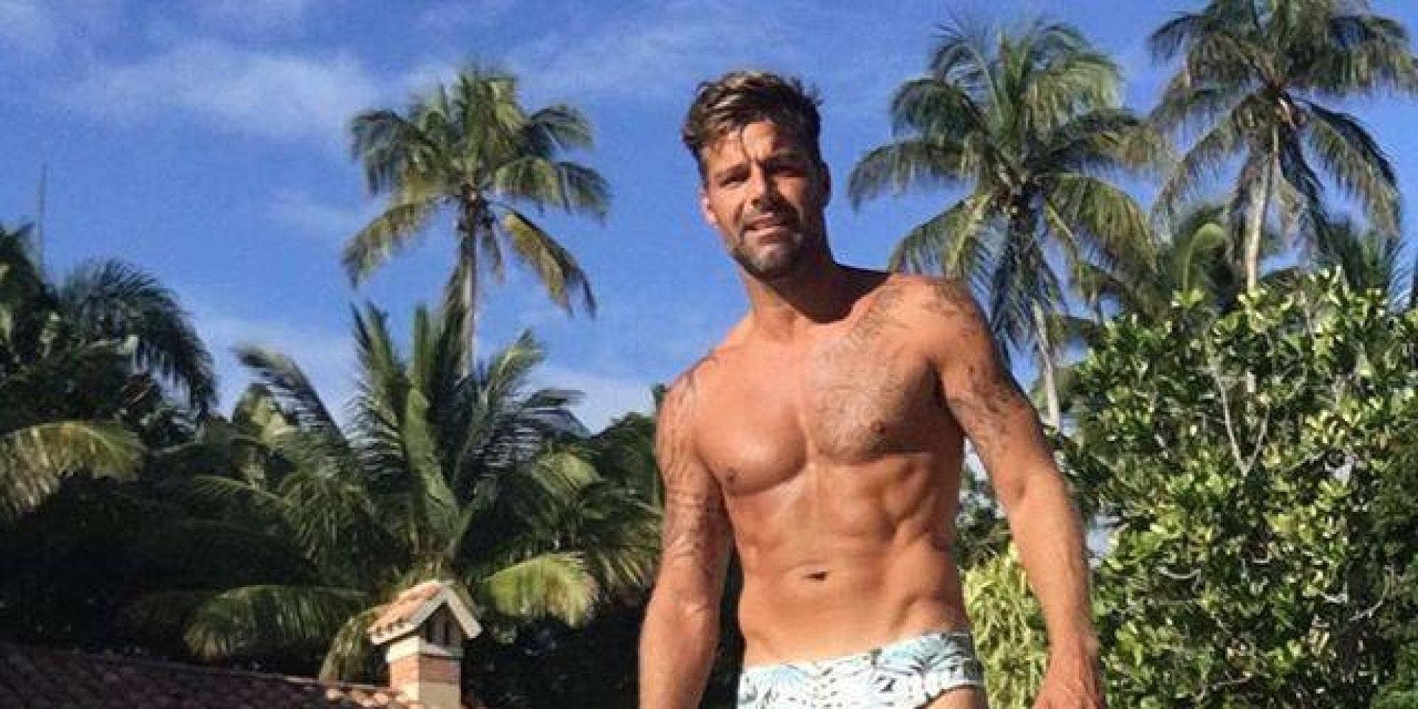 Botiquines Para Baño En Puerto Rico:Ricky Martin de vacaciones en Puerto Rico y ¡en diminuto traje de