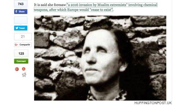 La mujer que predijo el 11-S augura que el Estado Islámico invadirá Europa este año