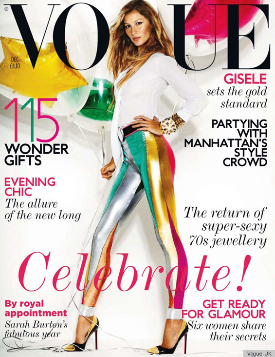 Gisele Covers Vogue UK's December Issue In Bright Pants