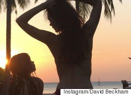 David Beckham Captures Mother-Daughter Bond In Beautiful 'Sunset Girls' Photo