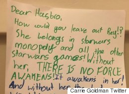 Girl Pens Letter After Realising Rey Is Missing From Star Wars Monopoly