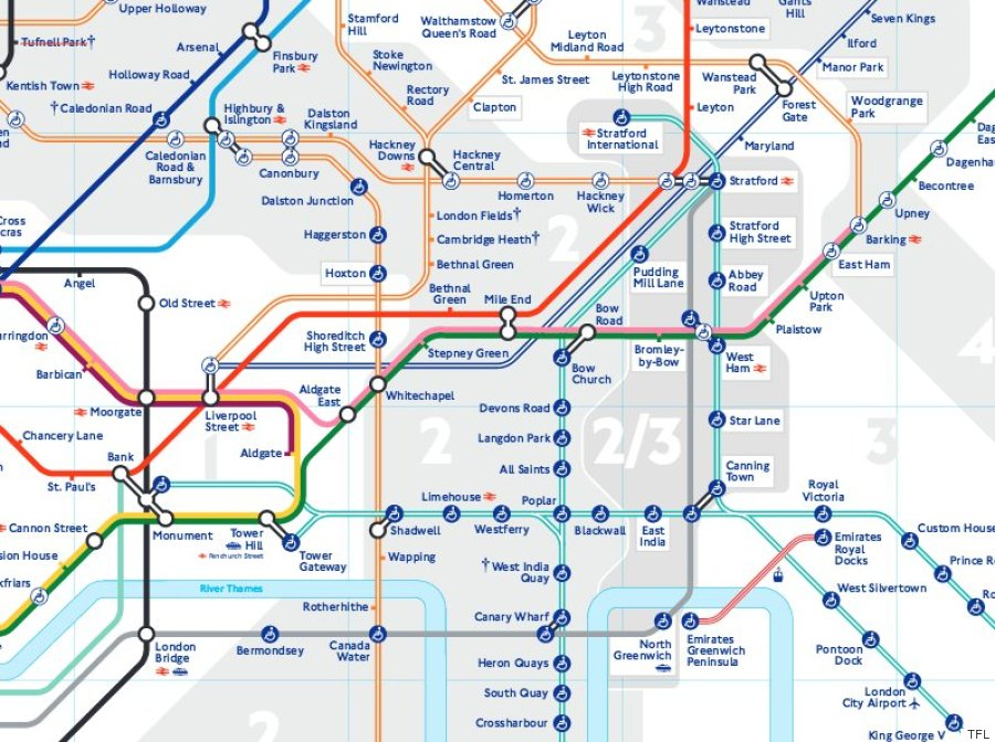 London Underground 2016 Tube Map Shows New Zones For Stratford ...