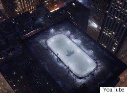 Pourquoi y a-t-il une patinoire sur un toit d'immeuble à Toronto?