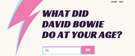 DAVID BOWIE AGE