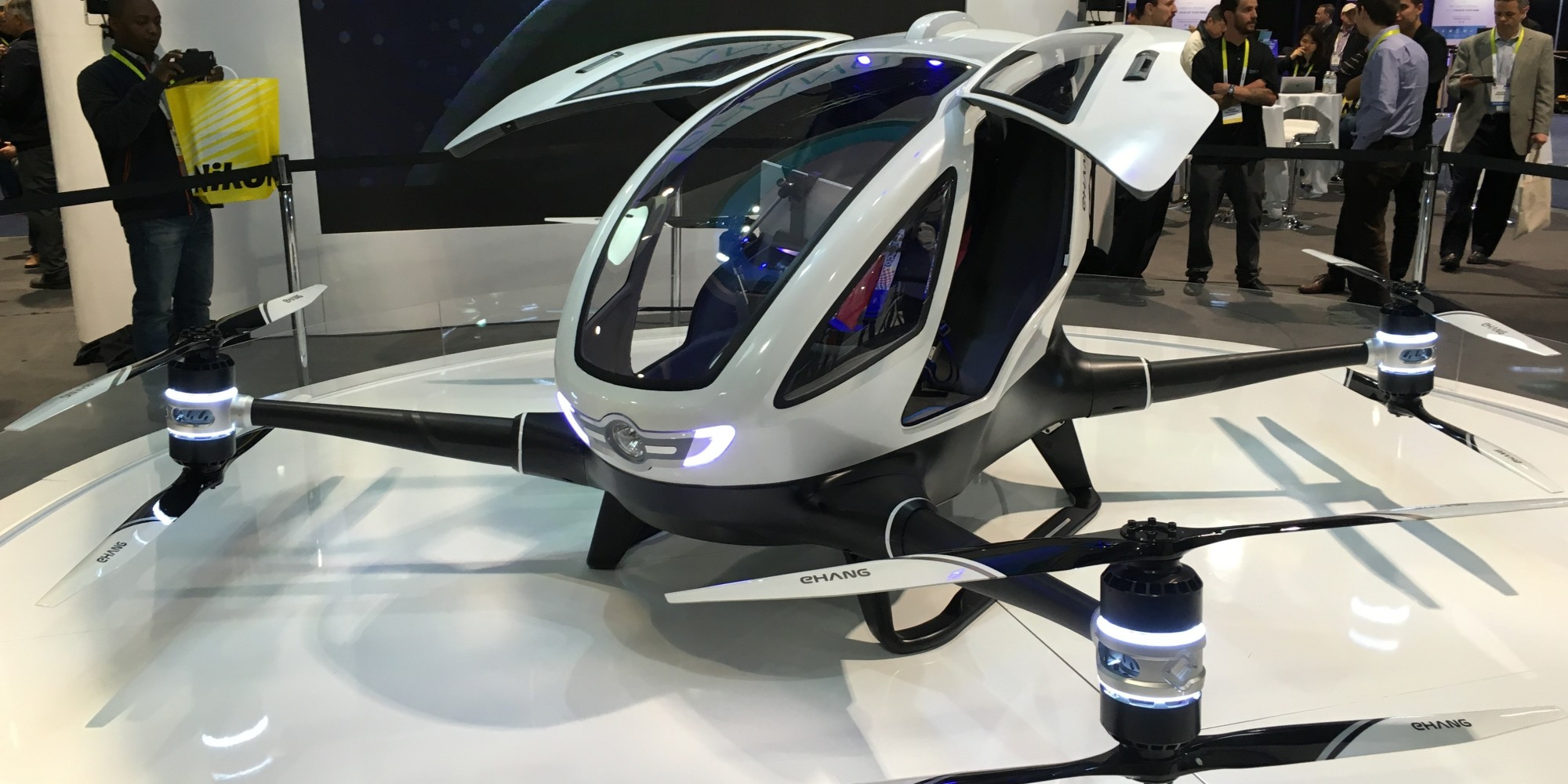 Uber Car Seat >> The EHang 184 Is A Giant Self-Driving Drone For Humans ...