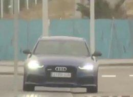 VÍDEO: Arbeloa se come un bordillo y revienta una rueda de su coche