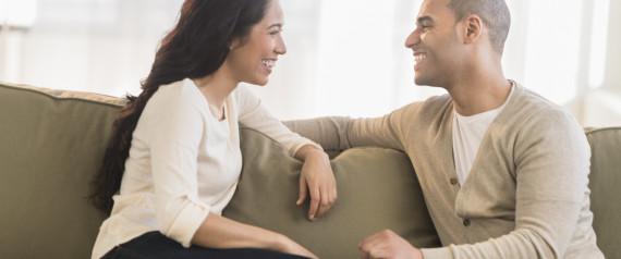 MAN AND WOMAN TALKING LOVE