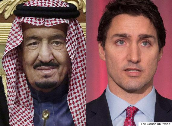 saudi king justin trudeau