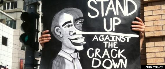 Obama Marijuana San Francisco Protest