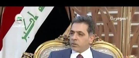 IRAQI INTERIOR MINISTER MOHAMMED SALEM AL GHABBAN