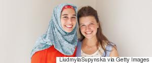 MUSLIM WOMAN CHRISTIAN WOMAN