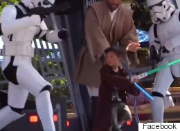 Fearless Young Jedi Hits Stormtrooper In The Goolies With Lightsaber