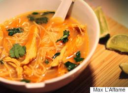 Soupe thaïlandaise à la dinde signée Max L'Affamé