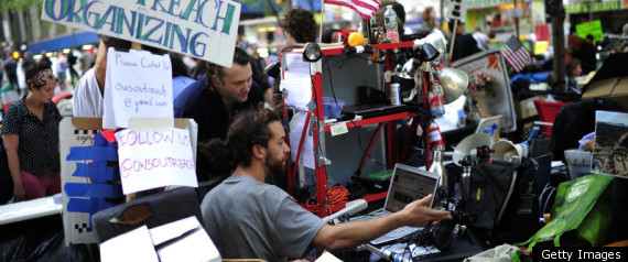Media At Occupy Wall St
