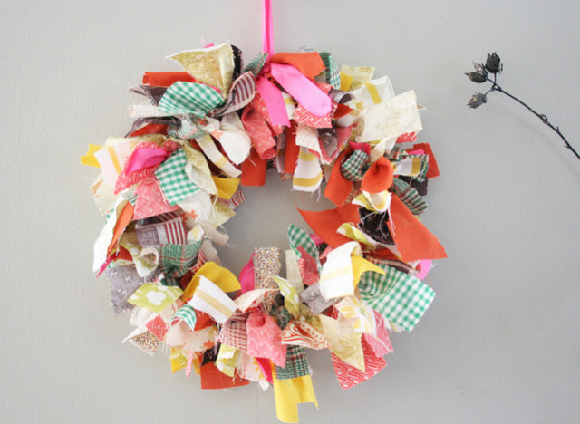 craft of the day fabric scrap wreath huffpost