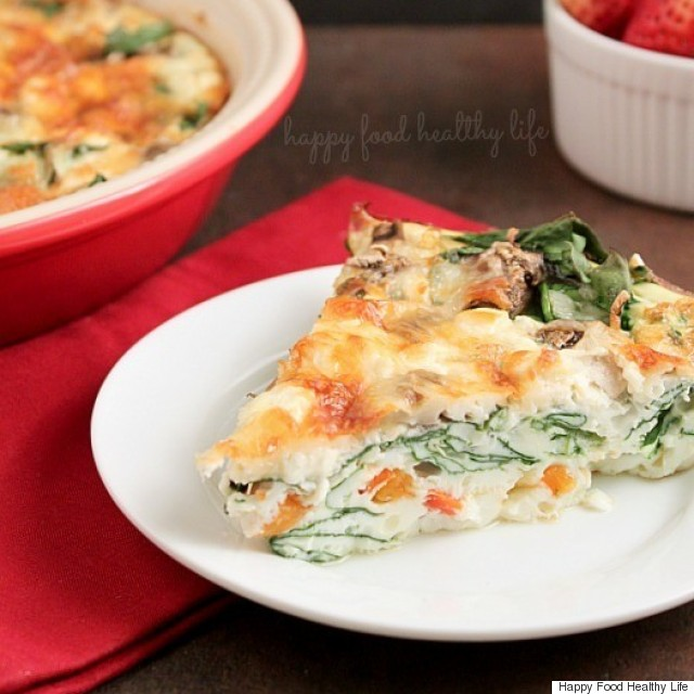 crustless eggwhite quiche