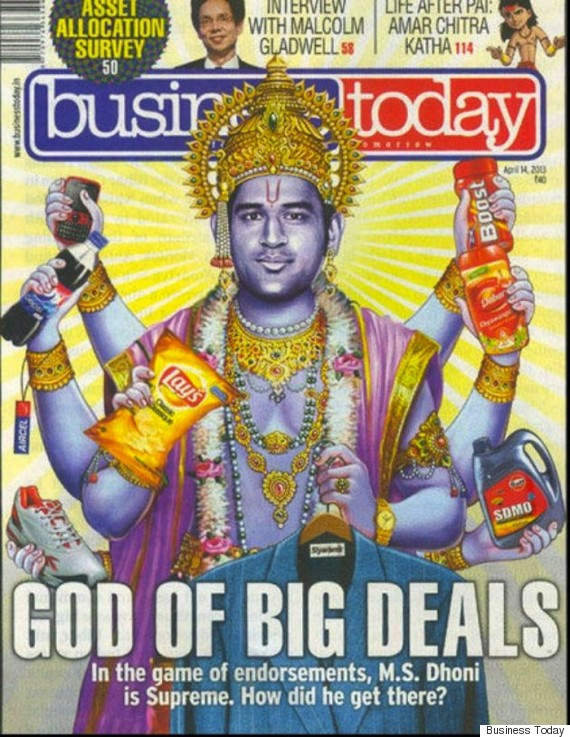 dhoni business today cover