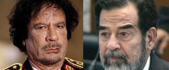 SADDAM HUSSEIN AND MUAMMAR GADDAFI