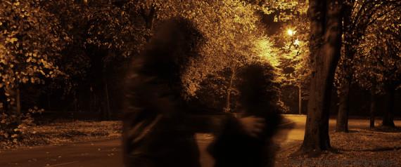 women afraid street dark