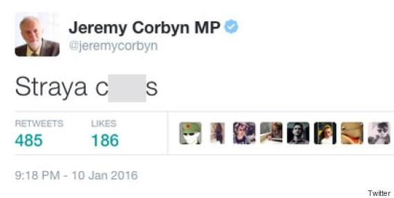 corbyn tweet