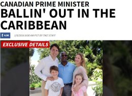 American Tabloid Covers Trudeau's Trip To Caribbean