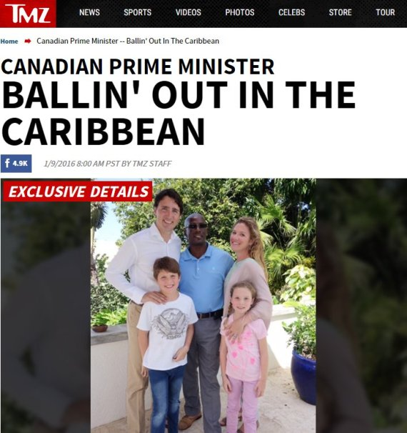 trudeau family caribbean tmz