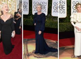 Golden Globes: pas besoin d'être jeune pour éblouir sur le tapis rouge (PHOTOS)