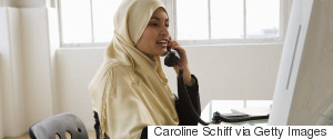 MUSLIM WOMAN AT JOB