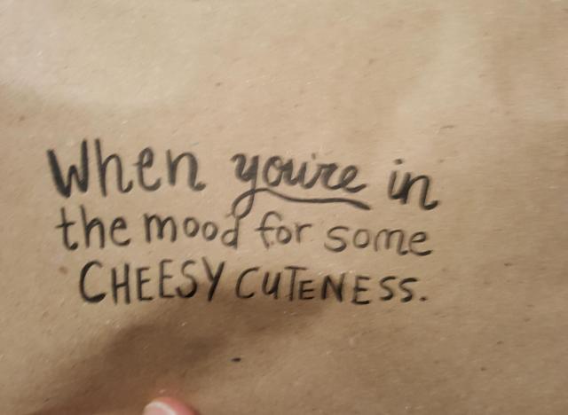 cheesy cutenesss