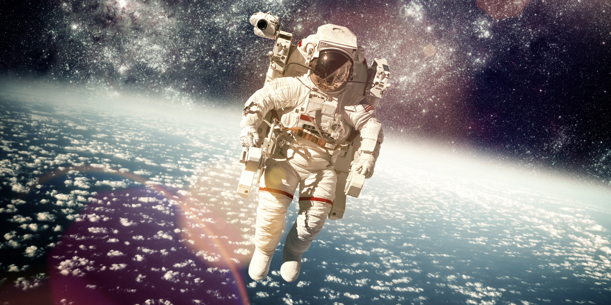an astronaut in space will observe the sky as - photo #17