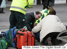 Moment Medic Broke Picket Line Shows Doctors Are Always On Duty
