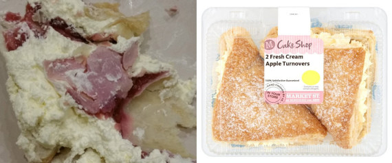 ham and hair found inside a dessert from Morrisons