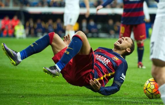 neymar fall