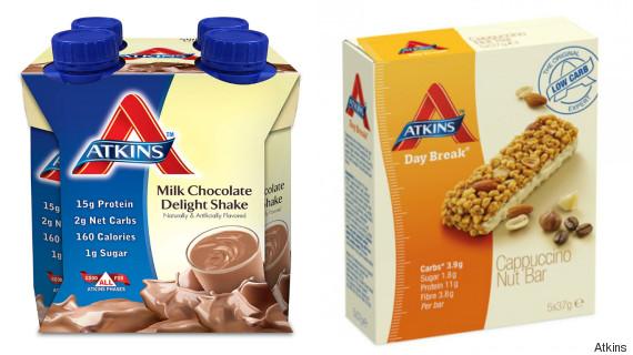 atkins bars shakes