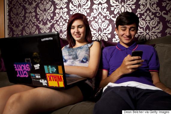 teens on computer