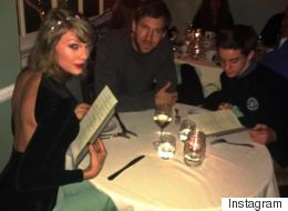 Fan Decides To Join Taylor And Calvin On Romantic Dinner Date. Awks.