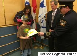 B.C. Boy Who Saved His Mom Honoured For Bravery