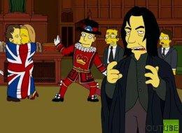El gran homenaje a Alan Rickman (y el pequeño homenaje a David Bowie) de 'Los Simpson'