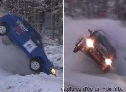 Ouch! Des sorties de route en rafale dans ce rallye enneigé! (VIDÉO)