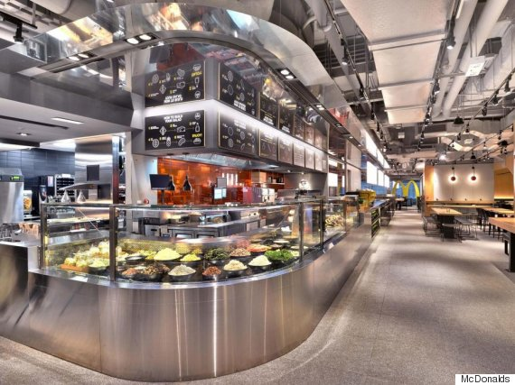 McDonald 39 S Launch Sleek New Restaurant Complete With Salad Bar And Table