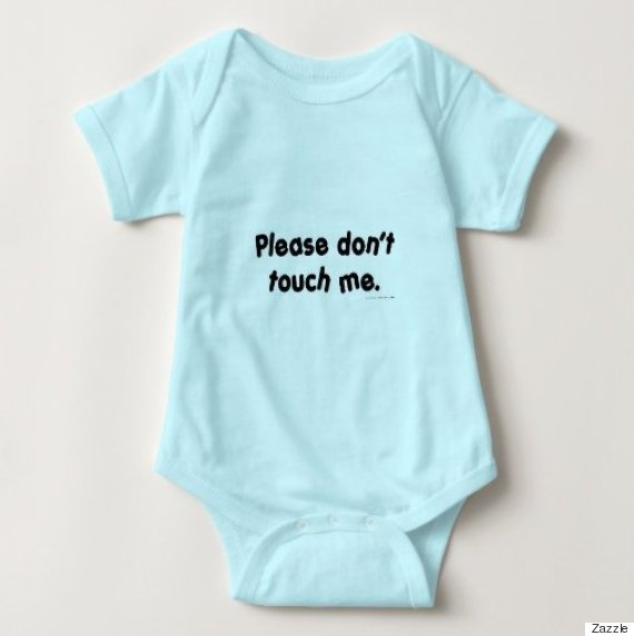 please dont touch me onesie