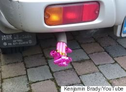 Someone Has Put Party Tooters In A Car Exhaust Because Obviously They Need A Hobby