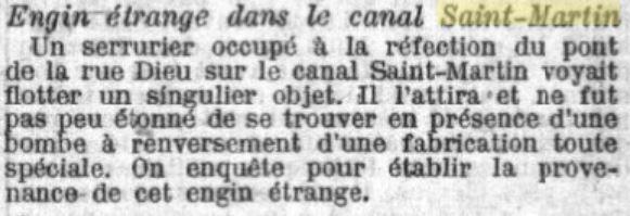 bombe canal saint martin
