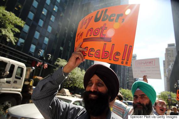 uber protest new york