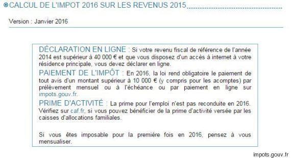 impots 2016