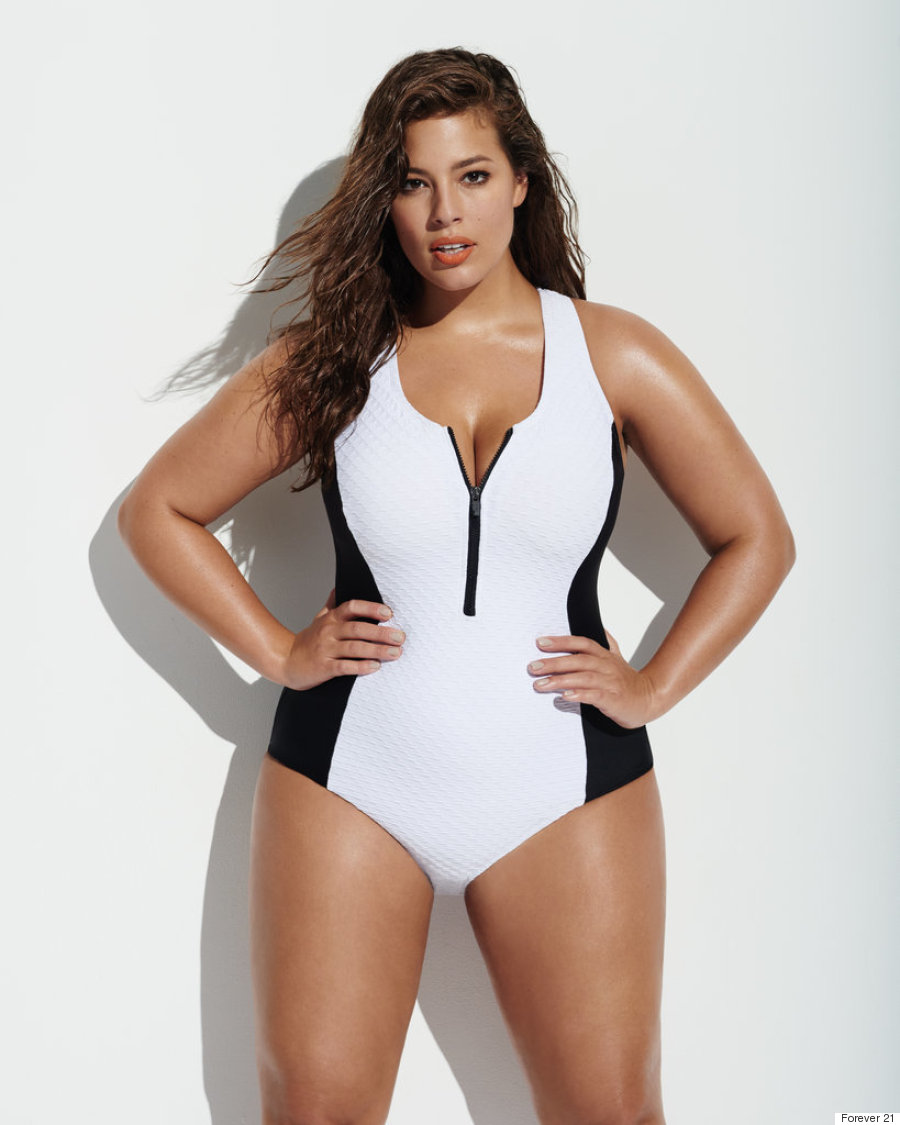 ashley graham is the face of forever 21 39 s spring 2016 plus size lines. Black Bedroom Furniture Sets. Home Design Ideas
