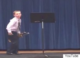 Epic Confidence Kid Knows The Perfect Way To End His Trumpet Solo