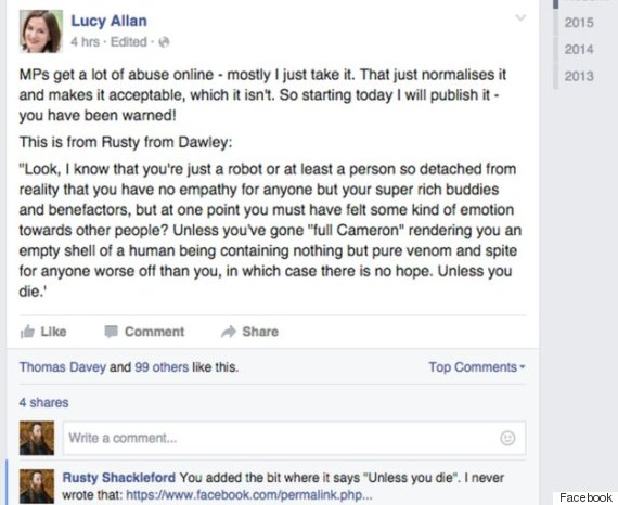 lucy allan facebook